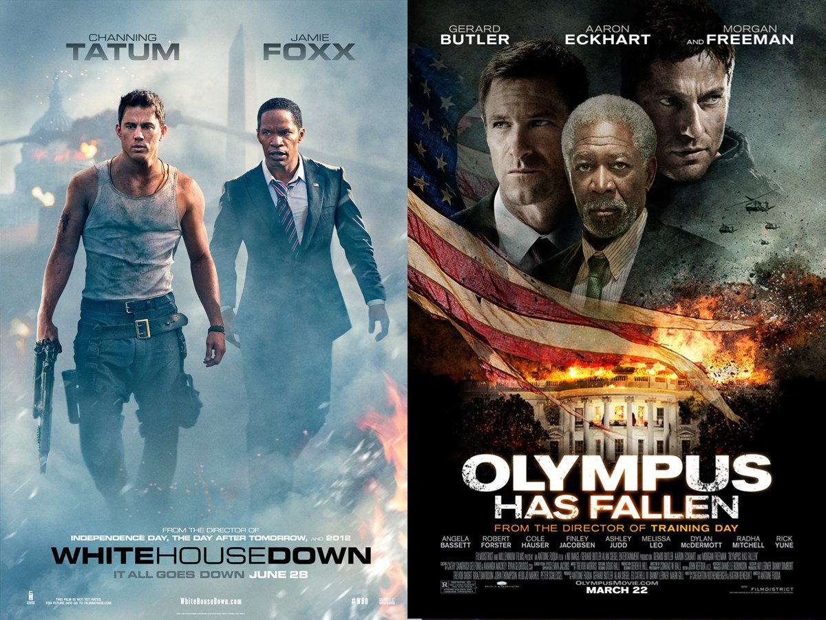 white house down vs olympus has fallen a comparative study on the couch. Black Bedroom Furniture Sets. Home Design Ideas